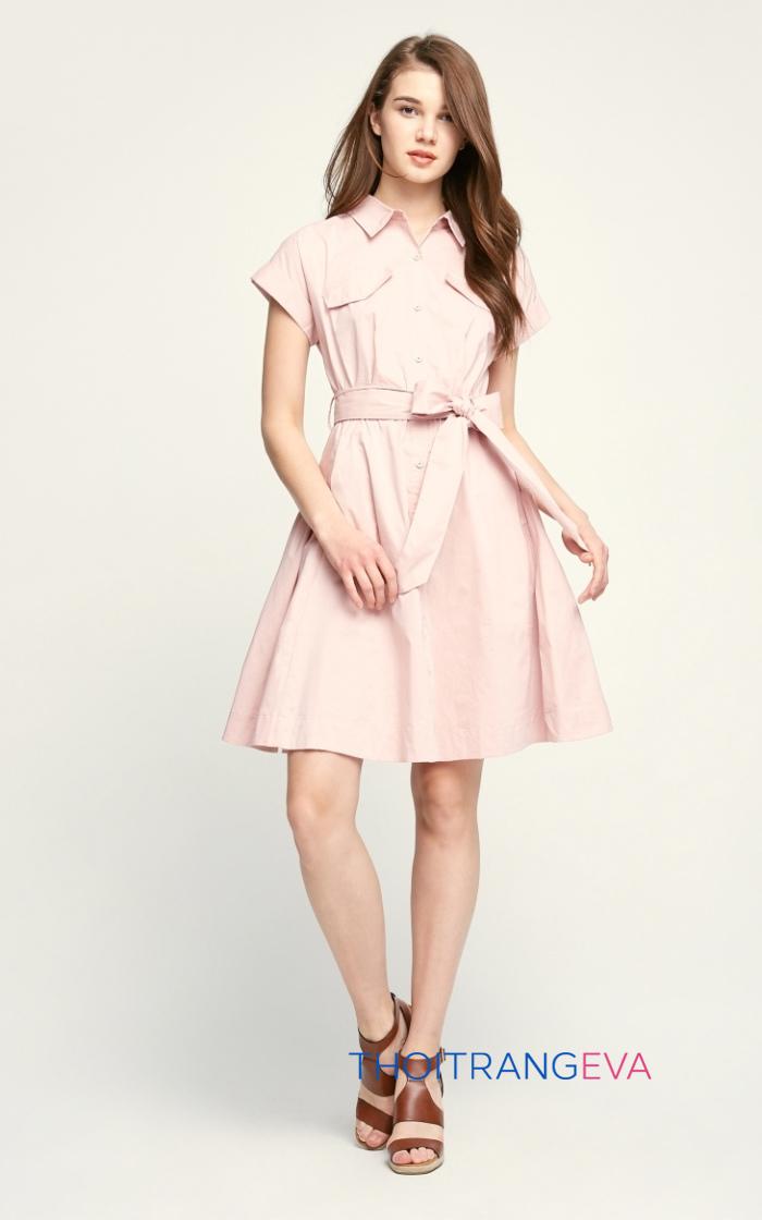 váy hồng công sở