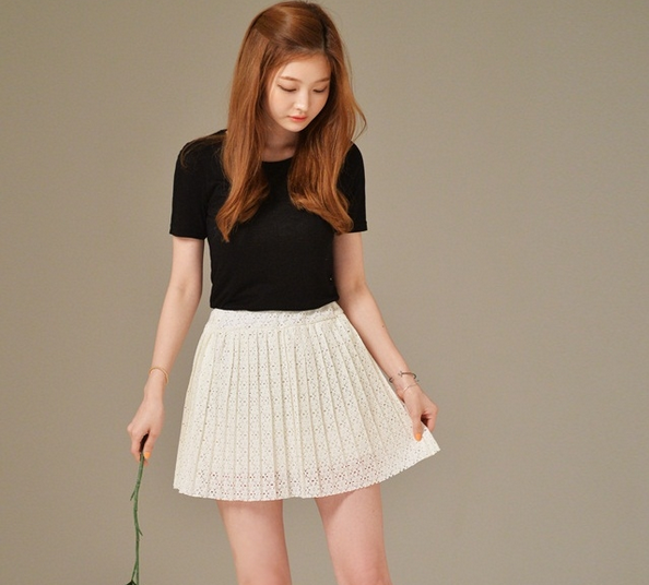 váy ngắn áo phông