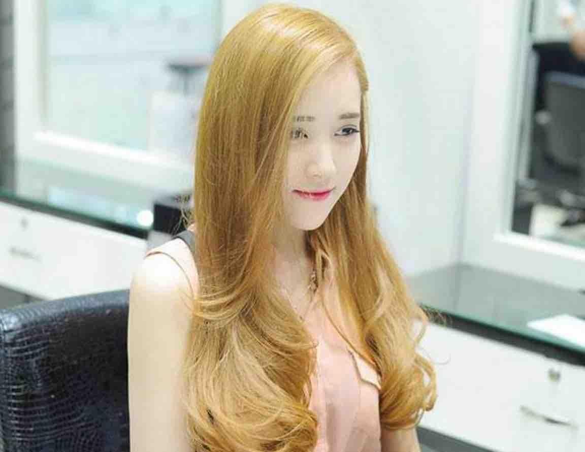màu tóc nhuộm vàng 2017