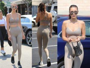 quần bó tông nude dạo phố