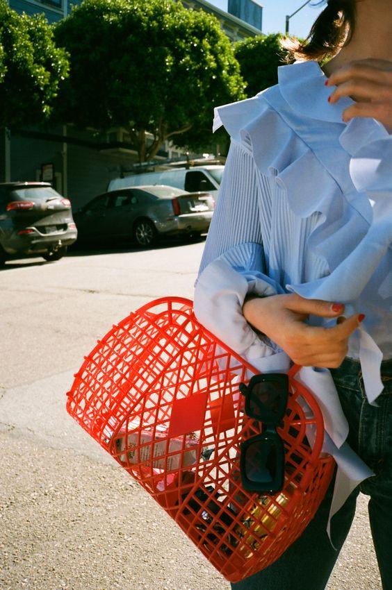 làn đi chợ, phụ kiện thời trang, chụp ảnh street style, chụp ảnh thời trang