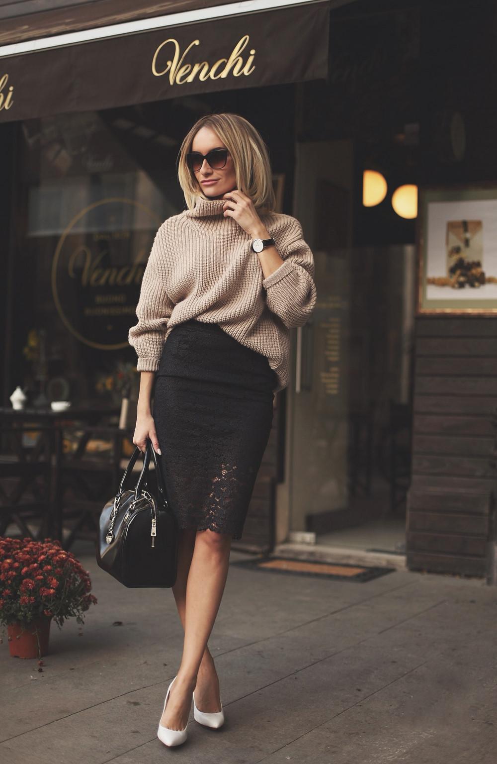 chân váy bút chì, mẫu chân váy bút chì, mặc đẹp với chân váy bút chì