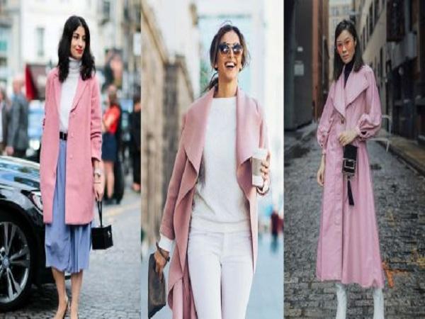 Trang phục gam màu hồng millennial đang thống trị mùa Đông