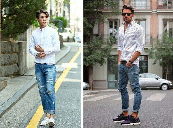 Mix giày thể thao cực chất với quần jean