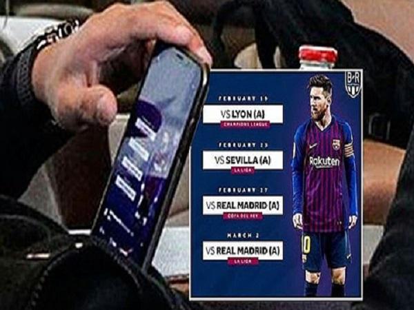Mbappe bị bắt quả tang đang soi lịch của Barca