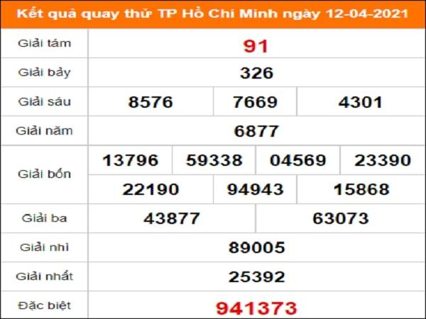 Quay thử xổ số Hồ Chí Minh ngày 12/4/2021