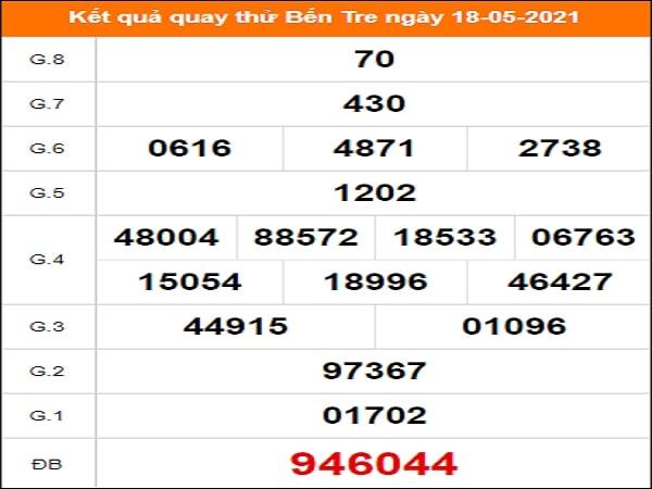 Quay thử Bến Tre ngày 18/5/2021 thứ 3