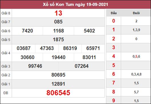 Nhận định KQXSKT ngày 26/9/2021 dựa trên kết quả kì trước